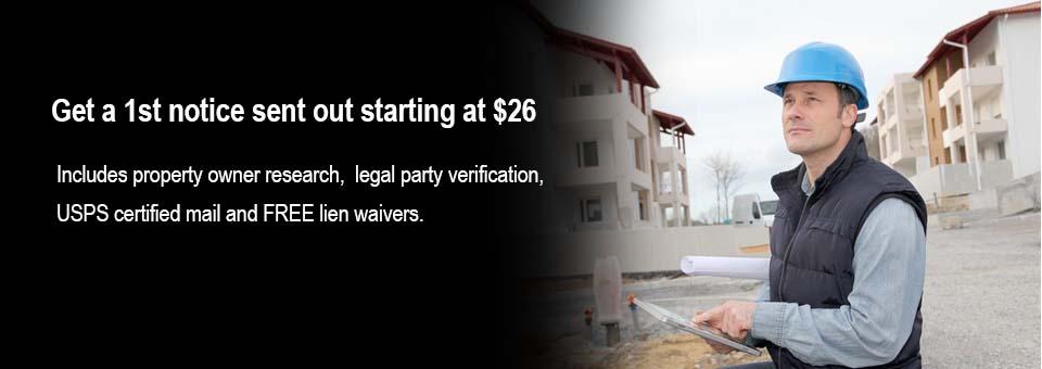 construction lien notices, stop notices, bond claims